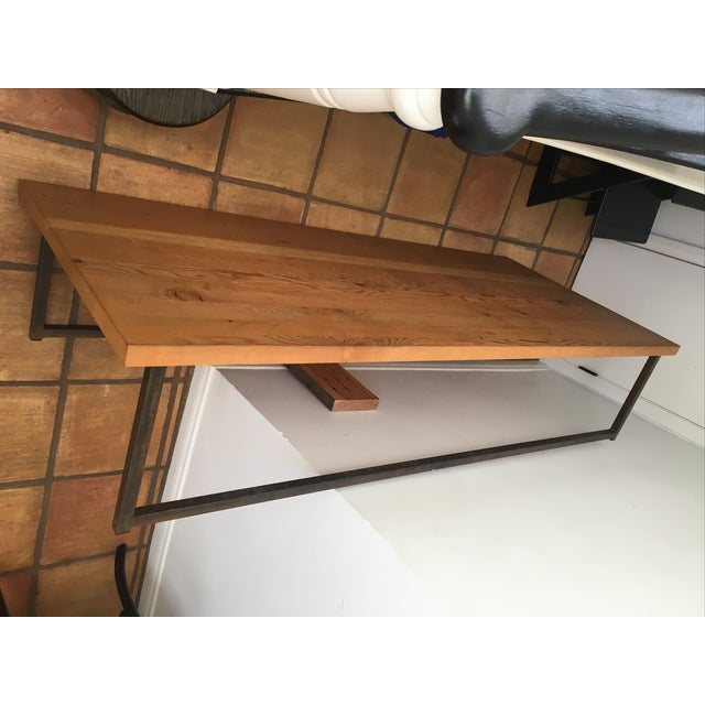 Cisco Wooden Coffee Table with Iron Leg Work - Image 2 of 6