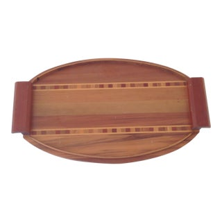 Vintage Inlaid Oval Tray