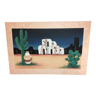 Southwestern Style Mixed Media Painting