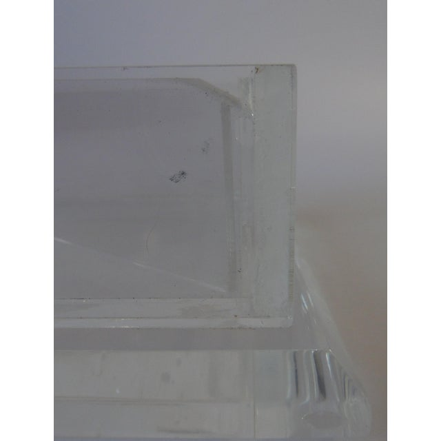 Handcrafted Art-Deco Clear Lucite Jewelry Box - Image 8 of 8