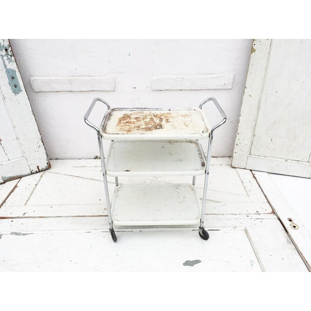 Image of Vintage Mid Century Bar Cart