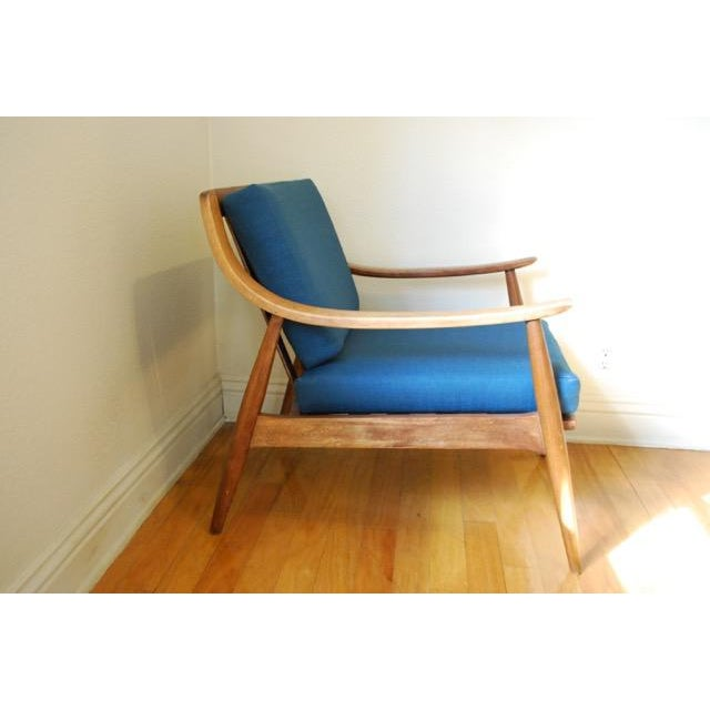 Danish Modern Vintage Lounge Chair With New Upholstery by Peter Hvidt - Image 7 of 8