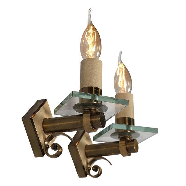 Fontana Arte Style Single Light Sconces - Pair - Image 3 of 7