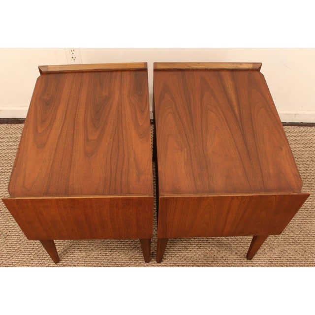 Image of Lane Mid-Century Danish Modern Walnut Nighstands- A Pair