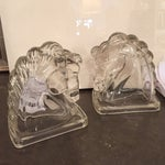Image of Vintage Glass Horse Bookends - A Pair