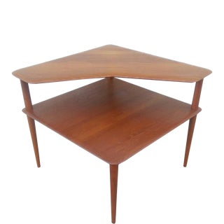 Vintage Danish Peter Hvidt Teak Corner Table