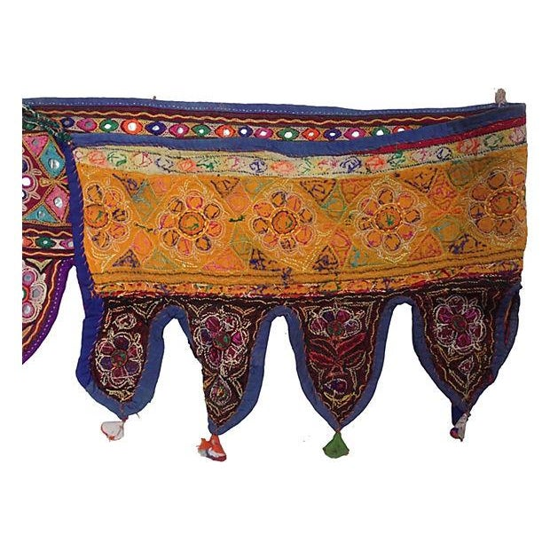 Indian Embroidered Mirrored Valance - Image 4 of 5