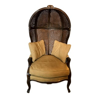 Mariano Garcia Cane Hooded Porter's Chair