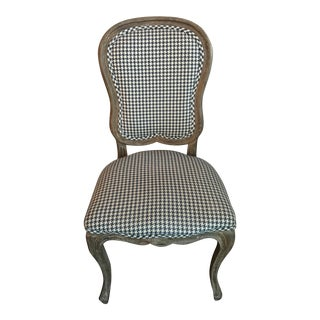 Houndstooth Upholstered Side Chair