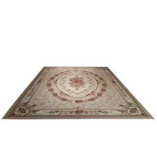 French Needlepoint Hand Made Rug - 12′ × 15′