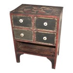 Image of 19th Century Original Paint Decorated Tabletop Apothecary Cabinet