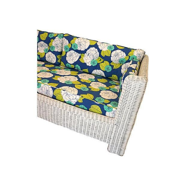 White Wicker Indoor/Outdoor Sofa - Image 6 of 7