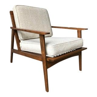 Folke Ohlsson for DUX Danish Modern Walnut Spindle Back Lounge Chair