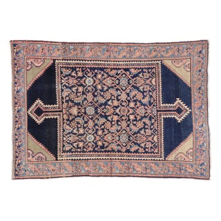 Antique Persian Pink & Blue Malayer Rug- 4′5″ × 6′4″
