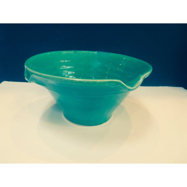 Large Sage Green Mixing Ceramic Bowl - Image 5 of 6