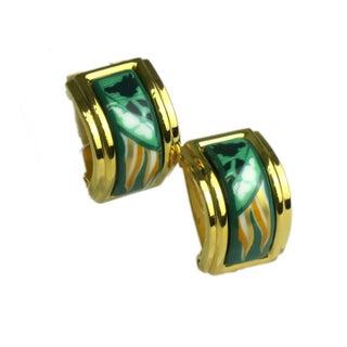 Hermes Enamel & Cloisonne Earrings