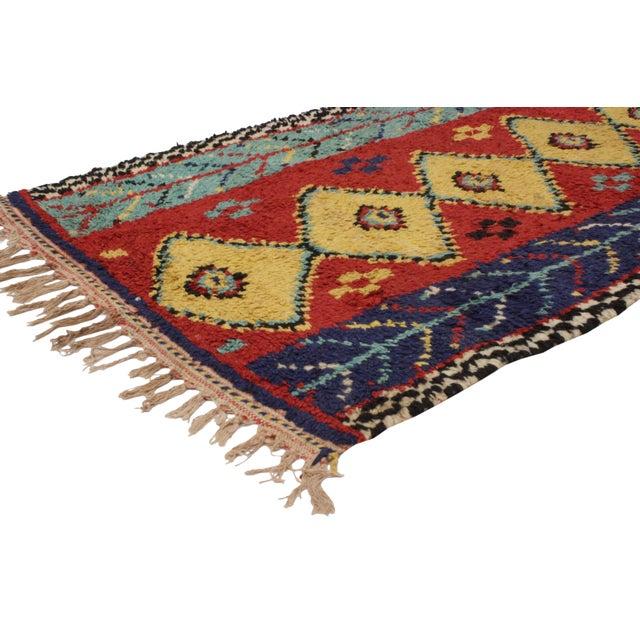 "Vintage Berber Moroccan Rug - 3'6"" x 6'2"" - Image 2 of 6"