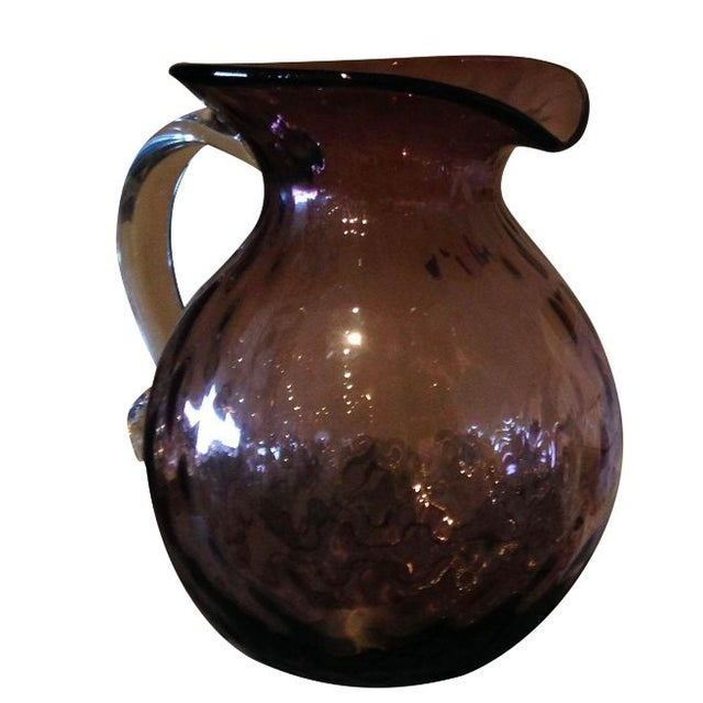 Blenko Glass Orchid Optic Pitcher - Image 1 of 4