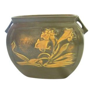 Roseville Panel Floral Pottery Vase