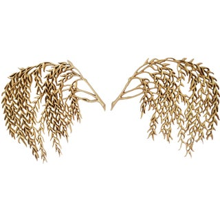 Vintage Burwood Weeping Willow Wall Decor - Pair