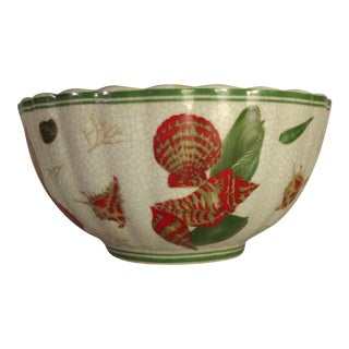 Vintage Chinese Centerpiece Shell Bowl