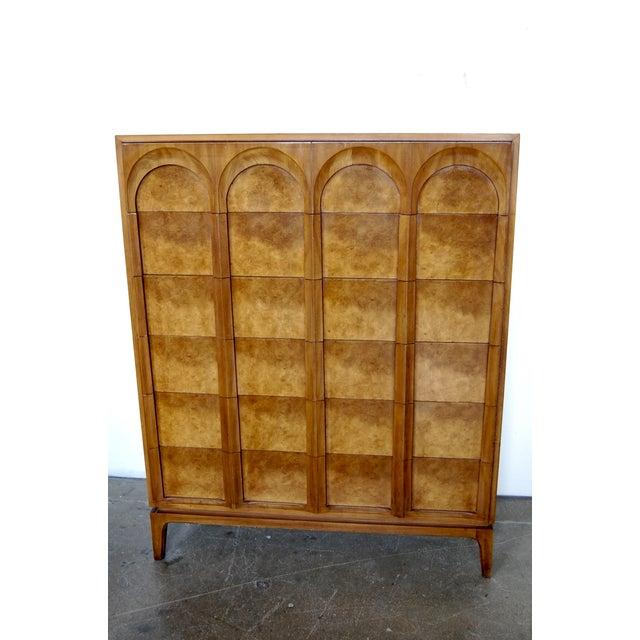 Mid Century Thomasville Sculptural Highboy Dresser - Image 2 of 11