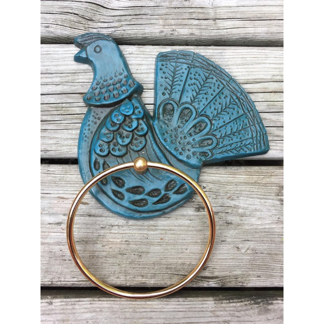 Image of Syroco Wall Mount Blue Bird Towel Ring