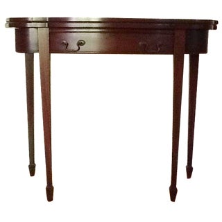 Duncan Phyfe Mahogany Card Table