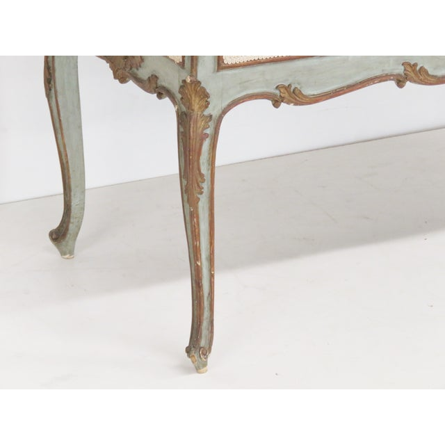French Style Louis XVI Style Painted Settee - Image 3 of 6
