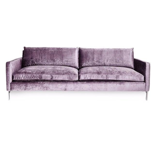 Cobble Hill Amethyst Velvet Sofa - Image 1 of 4