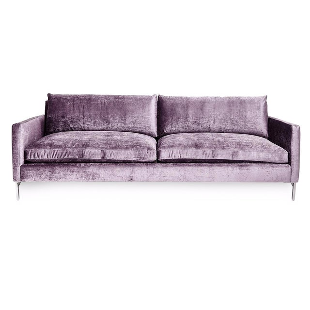 Image of Cobble Hill Amethyst Velvet Sofa