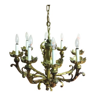 Baroque Revival Cast Bronze Chandelier