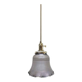 Clear Antique Holophane Pendant Light