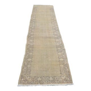 Persian Antique Floor Hallway Runner - 2′10″ × 14′6″