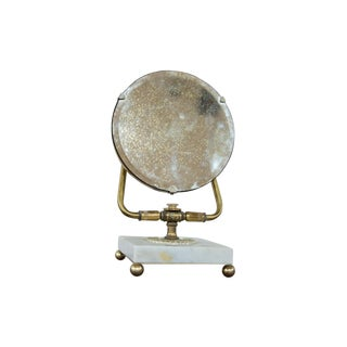 Mid-Century Marble Base Hollywood Mirror