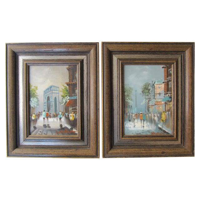 Image of Mid-Century Parisian Landscapes - A Pair