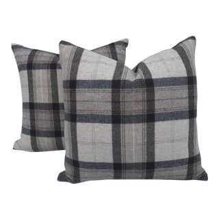 Scottish Wool Plaid Pillows~Pair