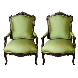 19th c., Renaissance Style, Northern Italian Chairs