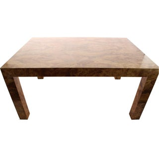 Burl Wood Parsons Dining Table