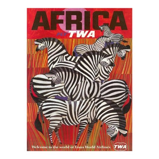 Matted and Framed Twa Africa Travel Poster