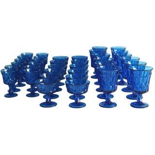 36-Piece Blue Glass Service