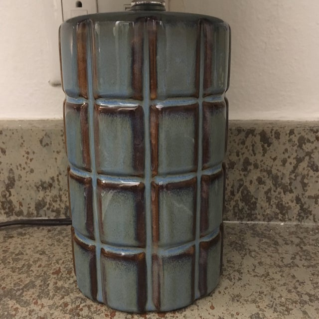Blue & Brown Stone Lamp - Image 4 of 5