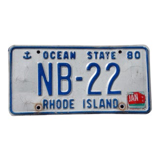 Authentic 1980 R. I. License Plate Wall Art