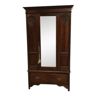 Antique British Colonial Style Armoire