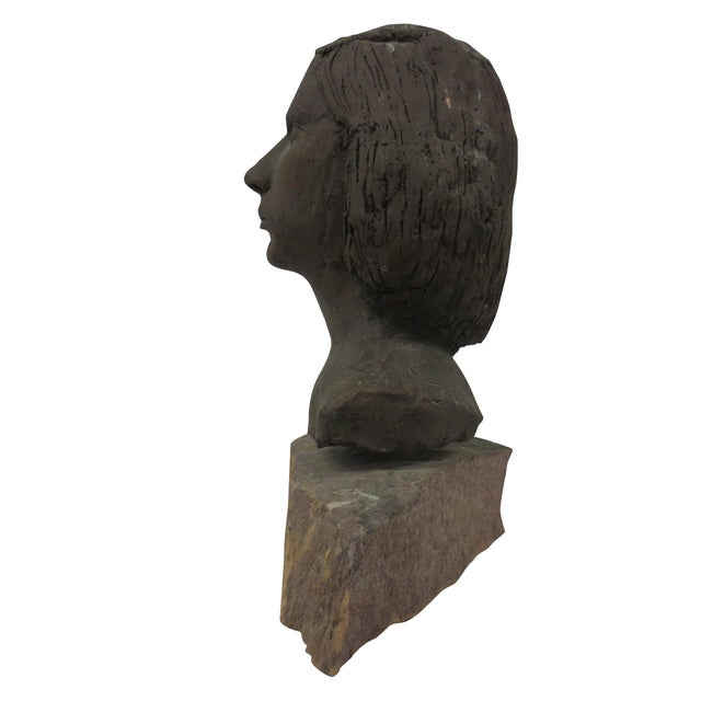 Terracotta Bust of Young Woman - Image 7 of 8