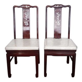 Chinese Antique Rosewood Dining Chairs - A Pair