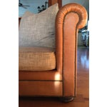 Image of Ralph Lauren Leather & Linen Sofa