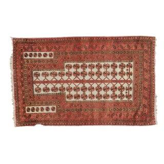 """Vintage Turkmen Rug - 3'1"""" x 4'10"""""""