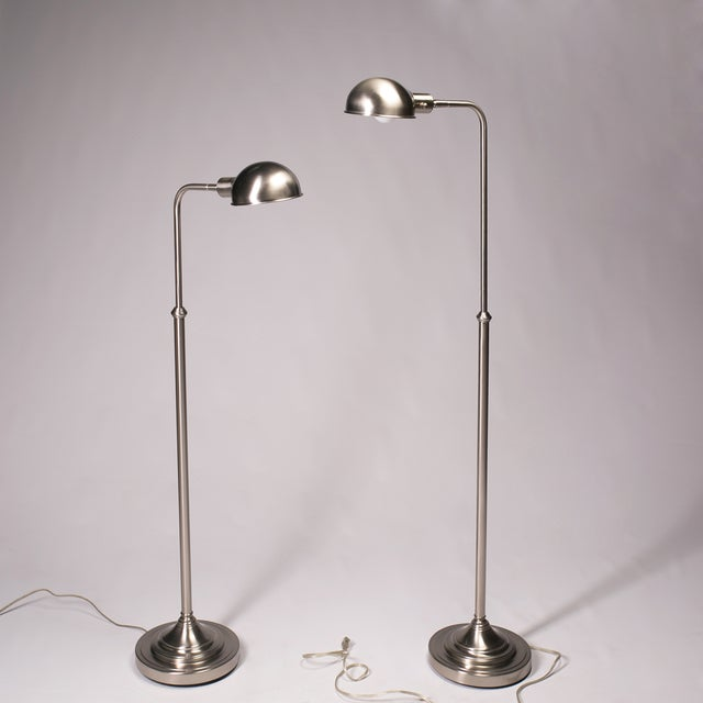 Pharmacy Floor Lamps - A Pair - Image 2 of 5