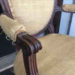 Image of Antique Burlap Upholstered Chair